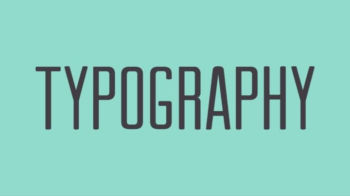 Tổng hợp typography đẹp hay sử dụng