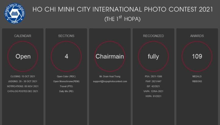 Cuộc thi ảnh Nghệ thuật quốc tế lần 1 tại TP HCM