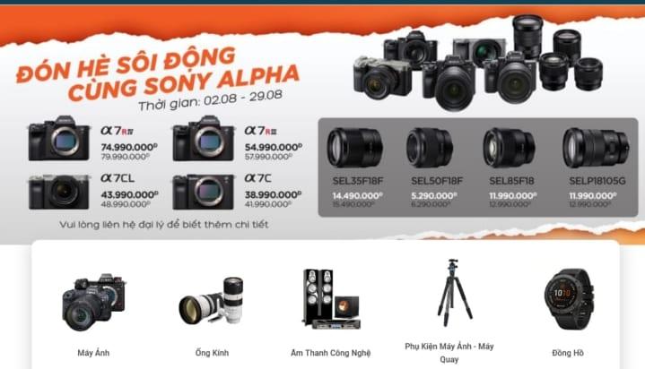 Các địa chỉ bán máy ảnh và phụ kiện tại Đà Nẵng